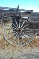 wagon wheel Garr Ranch, Antelope Island